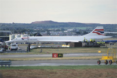 Concorde at Edinburgh Airport.